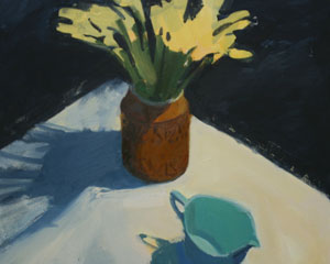 Daffodils and Blue Jug